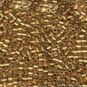 Miyuki Delica Beads 3mm DBL0410 galvanized Gold ca 6,8 Gr.