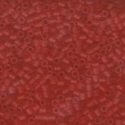 Miyuki Delica Beads 3mm DBL0745 transparent rainbow matte Red Orange  ca 6,8 Gr.