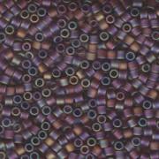 Miyuki Delica Beads 3mm DBL0853 transparent rainbow matte Light Brown ca 6,8 Gr.
