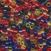 Miyuki Delica Beads 2,2mm Mix16 transparent Rainbow 7,2 Gr.