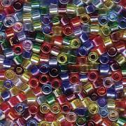 Miyuki Delica Beads 2,2mm Mix17 transparent Rainbow AB 7,2 Gr.