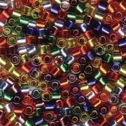 Miyuki Delica Beads 2,2mm Mix38 silverlined Rainbow 7,2 Gr.