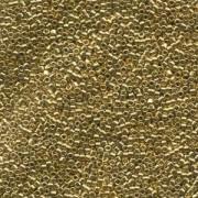 Miyuki Delica Beads 2,2mm DBM0034 metallic 24 Karat Hamilton Gold plated 7,2 Gr.