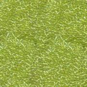 Miyuki Delica Beads 2,2mm DBM0174 transparent rainbow Chartreuse 7,2 Gr.