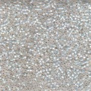 Miyuki Delica Beads 2,2mm DBM0221 inside colorlined White Opal Gilt 7,2 Gr.