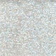 Miyuki Delica Beads 2,2mm DBM0222 transparent Rainbow White Opal 7,2 Gr.