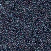 Miyuki Delica Beads 2,2mm DBM0325 metallic rainbow matte Blue 7,2 Gr.