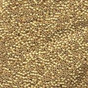 Miyuki Delica Beads 2,2mm DBM0331 metallic matte 24 Karat Bright Gold plated 7,2 Gr.