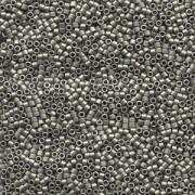 Miyuki Delica Beads 1,3mm DBS0321 metallic matte Dark Nickel Silver 5gr