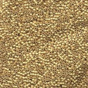 Miyuki Delica Beads 1,3mm DBS0331 metallic matte 24 Karat Bright Gold plated 5gr