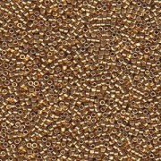 Miyuki Delica Beads 1,6mm DB1832 Duracoat galvanized Gold ca 7,2 Gr.