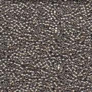 Miyuki Delica Beads 1,6mm DB1851 Duracoat galvanized Smokey Pewter ca 7,2 Gr.