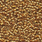 Miyuki Delica Beads 3mm DBL1832 Duracoat galvanized Gold ca 6,8 Gr.
