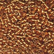 Miyuki Delica Beads 3mm DBL1833 Duracoat galvanized Yellow Gold ca 6,8 Gr.