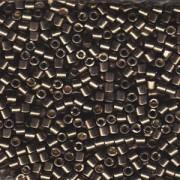Miyuki Delica Beads 3mm DBL1852 Duracoat galvanized Smokey Pewter ca 6,8 Gr.