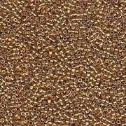 Miyuki Delica Beads 2,2mm DBM1832F Duracoat frosted galvanized Gold ca 7,2 Gr.