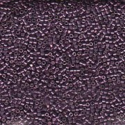 Miyuki Delica Beads 2,2mm DBM1850 Duracoat galvanized Eggplant ca 7,2 Gr.