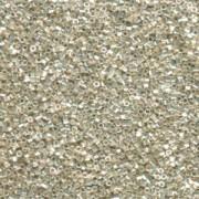 Miyuki Delica Beads 1,6mm Hexcut DBC0035 galvanized Silver 5gr