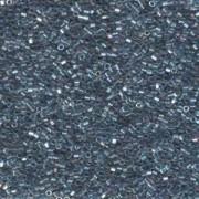 Miyuki Delica Beads 1,6mm Hexcut DBC0111 transparent rainbow Medium Grey Blue 5gr