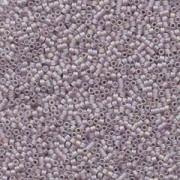 Miyuki Delica Beads 1,6mm DB0868 transparent rainbow matt Pink Mist 5gr