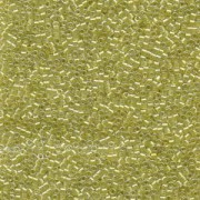 Miyuki Delica Beads 1,6mm DB0910 inside colorlined sparkle Crystal light Yellow 5gr