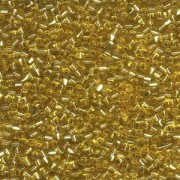 Miyuki Dreieck Beads, Triangle Beads 2,5mm 1103 transparent silverlined Gold 13gr