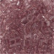 Miyuki Halb Tila Beads 2,2x5mm smoky Amethyst HTL0142 ca 7,8gr