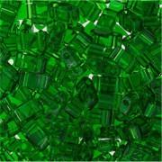 Miyuki Halb Tila Beads 2,2x5mm transparent Green HTL0146 ca 7,8gr