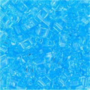 Miyuki Halb Tila Beads 2,2x5mm transparent light Blue HTL0148 ca 7,8gr