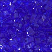 Miyuki Halb Tila Beads 2,2x5mm transparent Cobalt HTL0151 ca 7,8gr