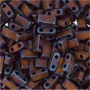 Miyuki Halb Tila Beads 2,2x5mm matt metallic Copper HTL2005 ca 7,8gr