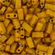 Miyuki Halb Tila Beads 2,2x5mm Mustard HTL2312 ca 7,8gr