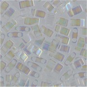 Miyuki Halb Tila Beads 2,2x5mm rainbow Crystal HTL0250 ca 7,8gr