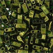 Miyuki Halb Tila Beads 2,2x5mm Luster Olive Gold HTL0306 ca 7,8gr