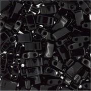 Miyuki Halb Tila Beads 2,2x5mm Black HTL0401 ca 7,8gr