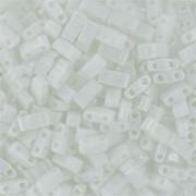 Miyuki Halb Tila Beads 2,2x5mm opaque White HTL0402 ca 7,8gr