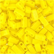 Miyuki Halb Tila Beads 2,2x5mm opaque matt rainbow Yellow HTL0404FR ca 7,8gr