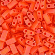 Miyuki Halb Tila Beads 2,2x5mm opaque matt rainbow Orange HTL0406FR ca 7,8gr
