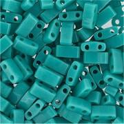 Miyuki Halb Tila Beads 2,2x5mm opaque turquoise Green HTL0412 ca 7,8gr