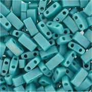 Miyuki Halb Tila Beads 2,2x5mm opaque rainbow turquoise Green HTL0412FR ca 7,8gr