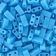 Miyuki Halb Tila Beads 2,2x5mm opaque turquoise Blue HTL0413 ca 7,8gr