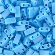 Miyuki Halb Tila Beads 2,2x5mm opaque rainbow turquoise Blue HTL0413FR ca 7,8gr