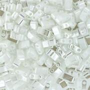 Miyuki Halb Tila Beads 2,2x5mm Ceylon pearl White HTL0420 ca 7,8gr