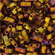 Miyuki Halb Tila Beads 2,2x5mm rainbow metallic Gold HTL0462 ca 7,8gr