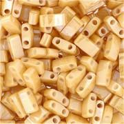 Miyuki Halb Tila Beads 2,2x5mm light caramel Ceylon HTL0593 ca 7,8gr