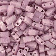 Miyuki Halb Tila Beads 2,2x5mm opaque luster antique Rose HTL0599 ca 7,8gr