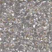 Miyuki Long Magatama Beads 4x7mm ca8,5gr 0001 transparent silverlined Clear
