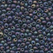 Miyuki Magatama Beads 4mm 0401FR matte Black AB ca 24gr