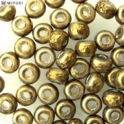 Miyuki Rocailles Baroque Beads 4mm 3955 Antique Brass ca 6,8gr