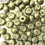 Miyuki Rocailles Baroque Beads 4mm 3957 dark Olive ca 6,8gr